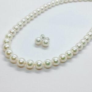パール,真珠,ネックレス,ピアス