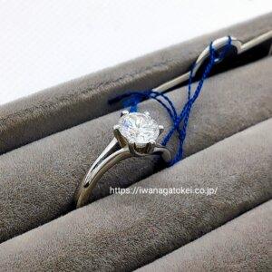 ロイヤルアッシャーのダイヤの指輪