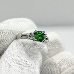 グリーンガーネットの指輪